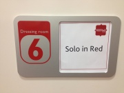 solo in red dressing room